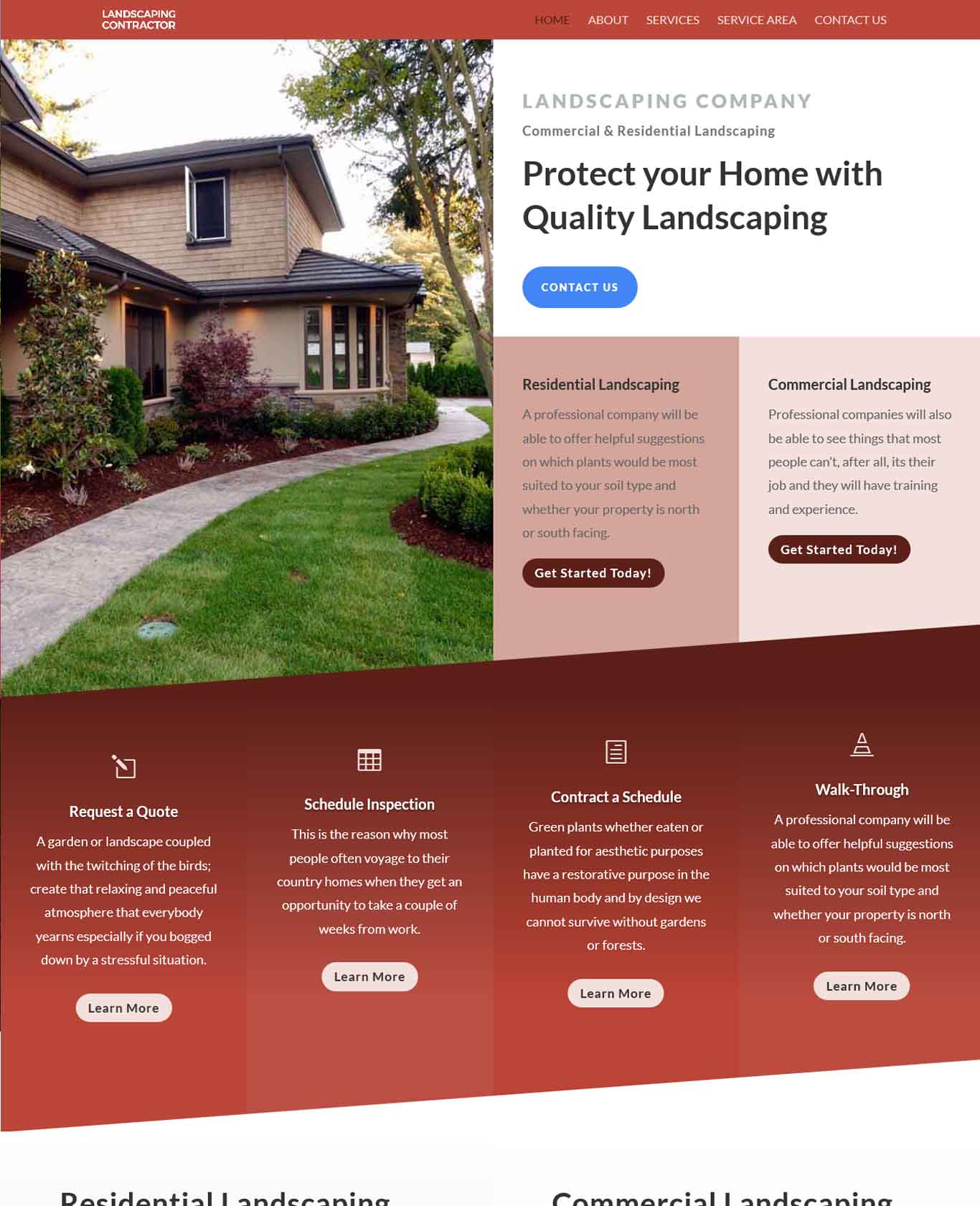 Prestige Landscaping Websites Sample Design 3