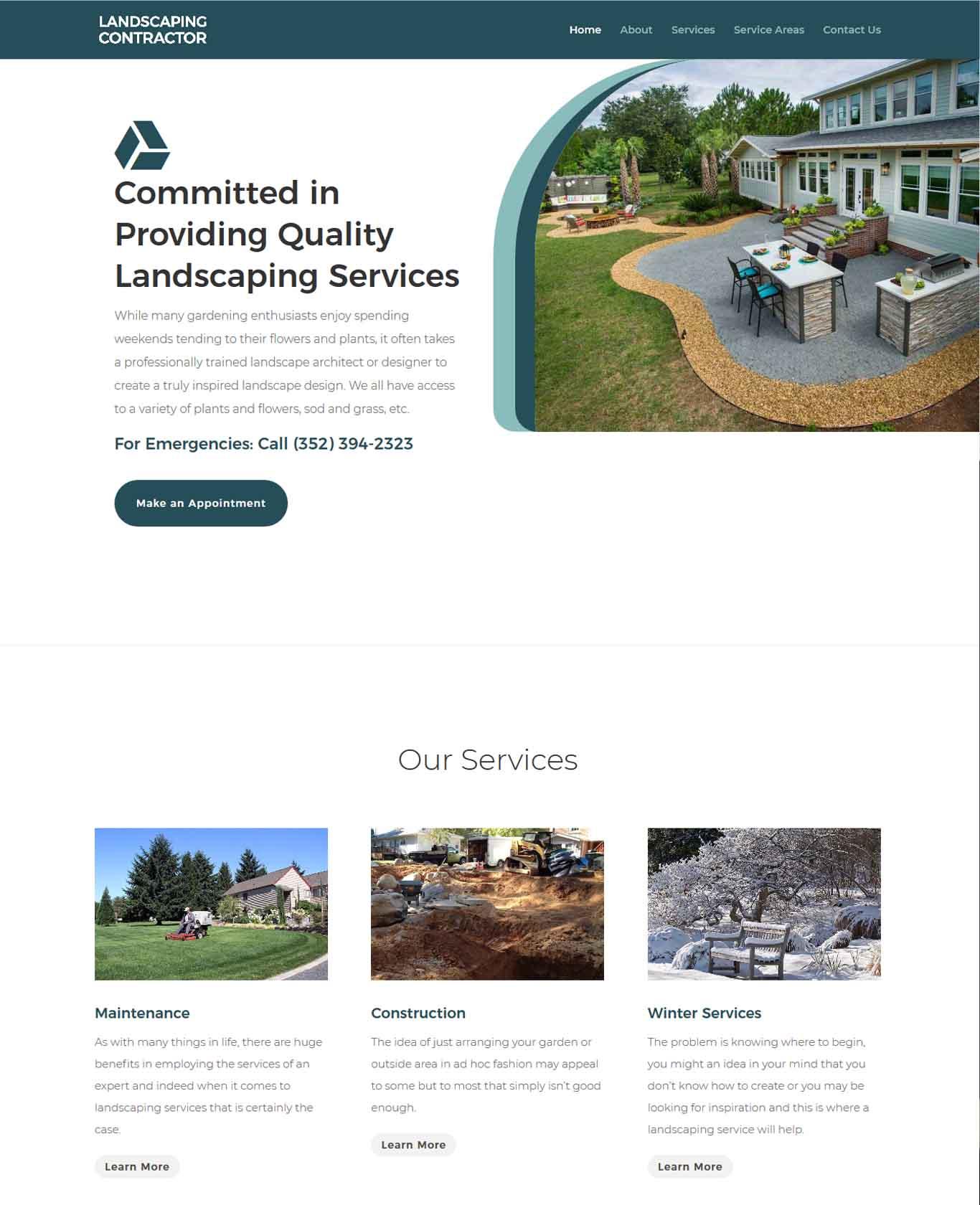 Landscape Contractor Website